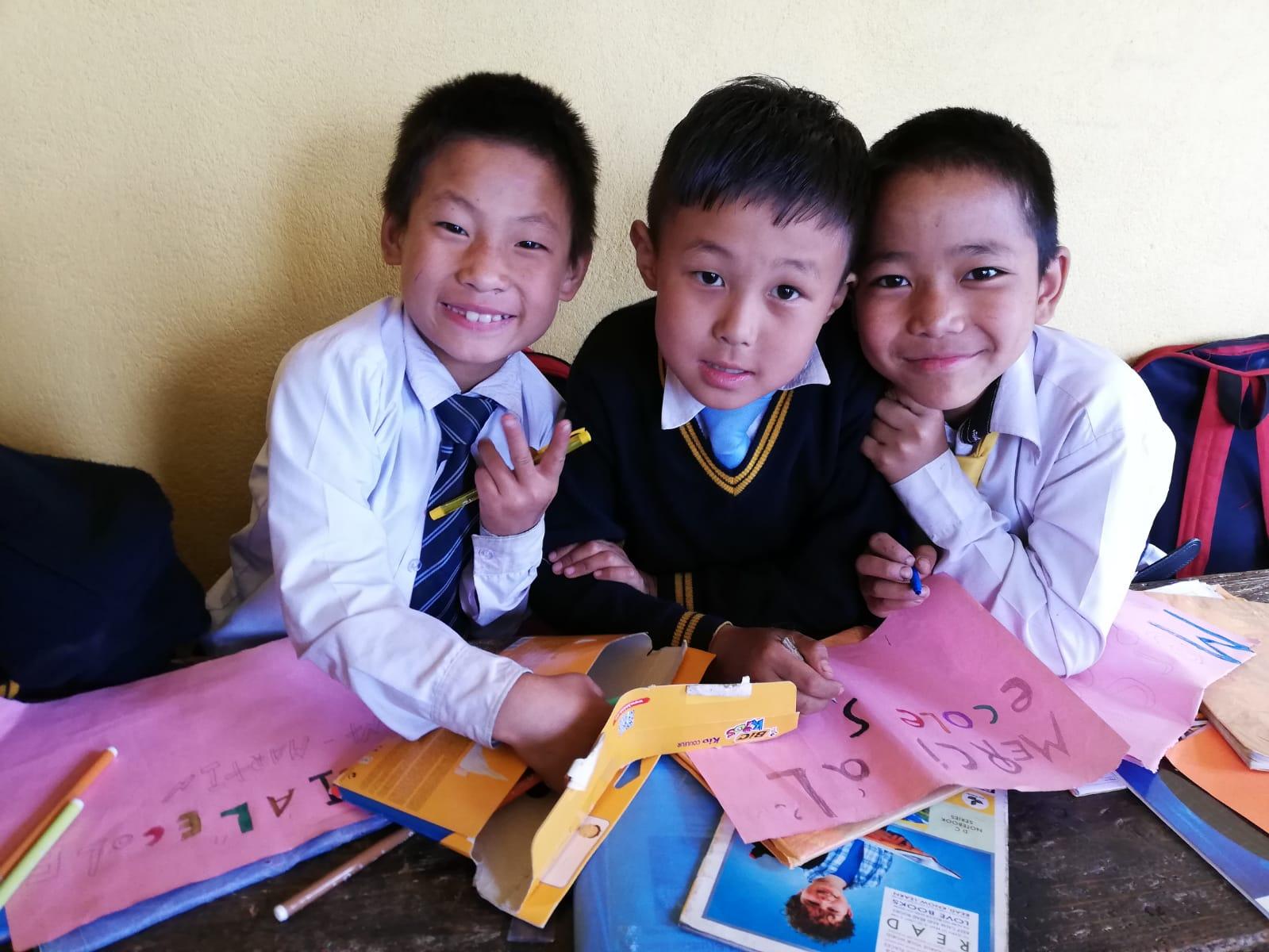 Ecole primaire dans l'Himalaya